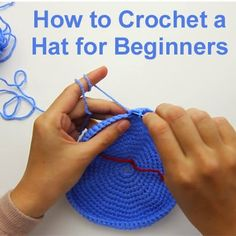 How to Crochet a Hat for Beginners...2 parts...click on link below picture to see tutorial. FYI...this is for a child's hat. Remember this is a tutorial not a pattern..you will need to measure the head for the correct size & fit.