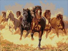 Art Print Animals Horses Oil painting Picture Printed on canvas inch Oil Painting Pictures, Pictures To Paint, Print Pictures, Cross Stitch Horse, Cross Stitch Animals, Horse Oil Painting, Painting Canvas, Horse Wallpaper, Horse Pattern