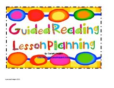 After 17 years of teaching, I've experimented with many ways to keep data and lessons for guided reading.These cards are the result of many years o...