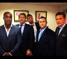 Blue (Lee Ryan, Duncan James, Simon Webbe, and Antony Costa) with their manager Paul Baylay Blue Lee, Brian Mcfadden, Duncan James, Ronan Keating, James Blue, Blue Band, Boy Bands, Costa, Singer