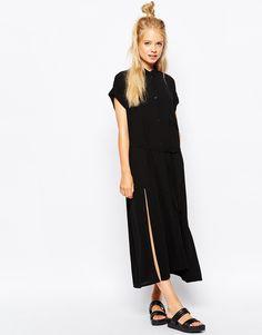 5b61307e7d Image 1 of Monki Tie Up Utility Dress Tall Dresses