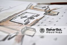 MakerBot store by Silvia Totaro, via Behance