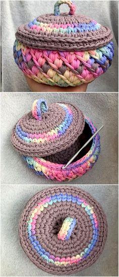 50 Top Trending Crochet Free Pattern Ideas For You And Your Home – DIY Rustics 50 Top Trending Crochet Free Pattern Ideas For You And Your Home – DIY Rustics,Crochet Projects unique crochet basket. Beau Crochet, Crochet Bowl, Crochet Diy, Crochet Basket Pattern, Unique Crochet, Beautiful Crochet, Crochet Ideas, Crochet Baskets, Crochet House