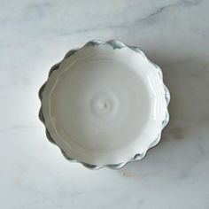 Love the charcoal! Pie for Two, White Plate with Charcoal Trim