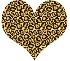leopard print heart - Google Search