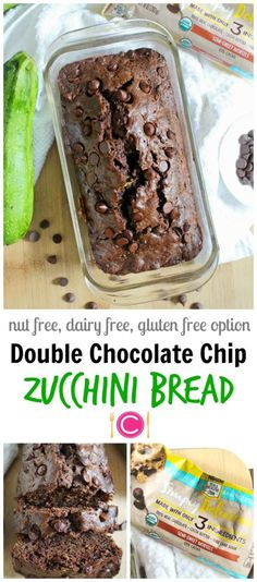 Food Allergy Friendly Double Chocolate Chip Zucchini Bread | C it Nutritionally by Chelsey Amer, MS, RDN, CDN  Chocolatey, easy to bake, and food allergy friendly, this Double Chocolate Chip Zucchini Bread is loaded with an entire zucchini and tons of antioxidants, while safely satisfying every chocolate craving, thanks to Nestlé Toll House Simply Delicious Chocolate Morsels! #sponsored #dairyfree #nutfree #soyfree #glutenfree option