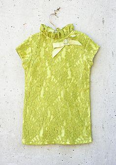 Joyfolie - Lace Nina Tunic - Green - One Good Thread