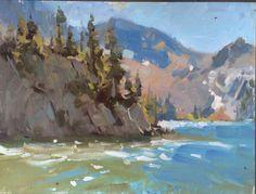 Paintings o' stuff  Elk lake