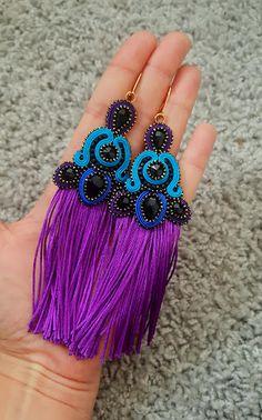 biżuteria soutache, haft koralikowy, torby z filcu: Kolorowe