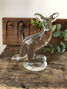 Excited to share this item from my shop: Kosta Boda zoo series Lisa Larson kangaroo Swedish glass flat back