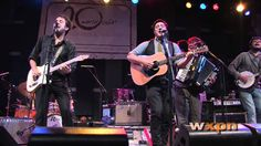 """Dawes with Mumford & Sons - """"When My Time Comes"""" (Live at WXPN). Their jubilation in this video fills me with joy. <3"""