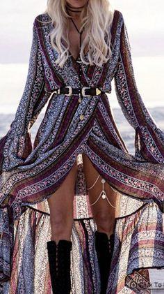 this bohemian wrap maxi dress
