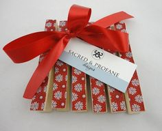 stick a magnet on the back of these and they would make for a very sweet little homemade present
