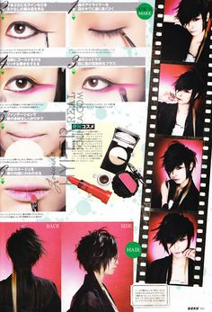 Fashion In Japan: Visual Kei, Goth lolita makeup and hair tutorials