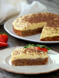Sukkerfri suksessterte No Bake Desserts, Healthy Desserts, Healthy Food, Danish Dessert, Norwegian Food, Norwegian Recipes, Healthy Bars, Pastel, Food Cakes