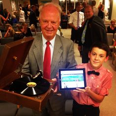 Phonograph and a tablet with JW.org. Various ways we have preached the good news over the years!