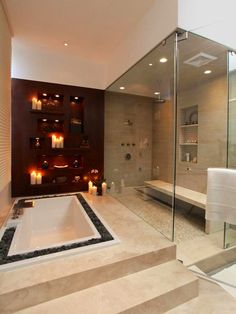 Gorgeous Bathroom Set up for a beautiful night in the jacuzzi Tub | Gorgeous Bathroom