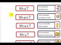 With this link you can practice the wh-questions. Enjoy the activities English activities: Practise wh-questions English Class, English Grammar, Learn English, Wh Questions, This Or That Questions, Word F, English Language Learning, Language Arts, Irregular Verbs