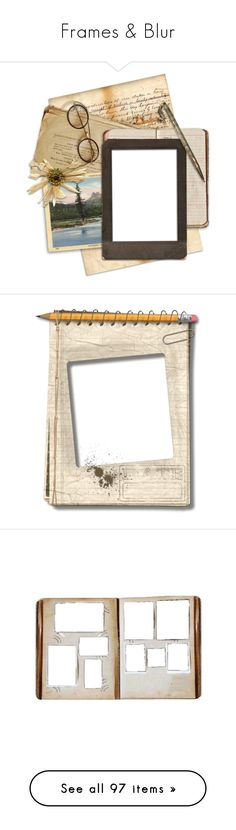"""""""Frames & Blur"""" by gangdise ❤ liked on Polyvore featuring frames, backgrounds, fillers, frame/pattern, borders, detail, embellishment, picture frame, decorations and effects"""