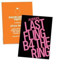 Showtime Fun -- Fun Bachelorette Party Invitations