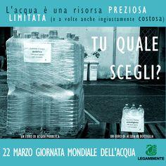22 marzo - GIORNATA MONDIALE DELL'ACQUA http://www.legambiente.it/contenuti/dossier/il-business-delle-acque-bottiglia