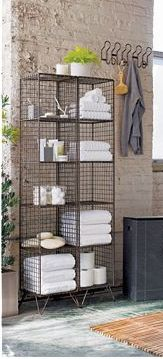 (Have 2) CB2 Coop Towers... If no floor space perhaps mount horizontally on walls or as headboard.