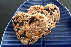 Granola Smart Hearts.  The homemade chewy granola bars also listed in my board are great.  They are with plain oatmeal, and so less processed.  You may want to use these ideas to add into that recipe.