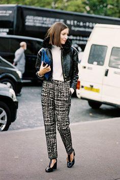 Vanessa Jackman: Paris Fashion Week SS 2014 wearing Jill Stuart Freja T Strap Pumps