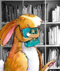 O Lobo Leitor: A leitura ilustrada de hoje: o coelho leitor...
