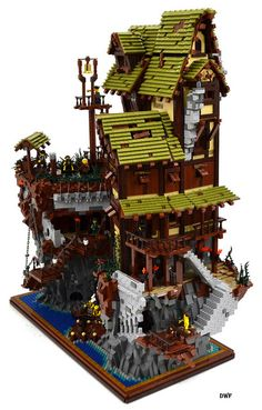 Epic LEGO Pirate Island Hideout by David Frank