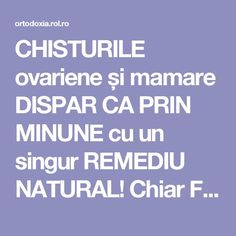 CHISTURILE ovariene și mamare DISPAR CA PRIN MINUNE cu un singur REMEDIU NATURAL! Chiar FUNCȚIONEAZĂ | ROL.ro Health And Wellness, Health Tips, Health Fitness, Healthy Life, Healthy Living, Salmon And Asparagus, Alter, Good To Know, Natural Remedies