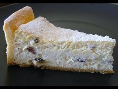 Cheesecake φούρνου με ανθότυρο και κρέμα τυριού, σε βάση τάρτας από ζύμη σαμπλέ. Cheesecake Cookies, Sweet Recipes, French Toast, Deserts, Breakfast, Food, Lemon, Kids, Pies