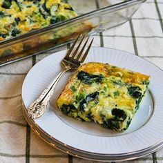 Low Glycemic - Spinach & Mozzarella Egg Bake.