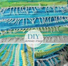 DIY Area Rug. sew mats together to make a runner or area rug