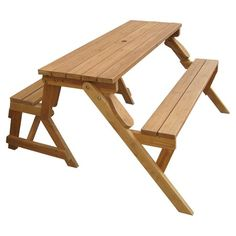 atlantic outdoor convertible picnic table u0026 bench perfect for modest gardens or porches the - Picnic Table Kit