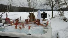 super petit spa nordique à l'auberge du lac morency!  lacmorency.com/spa