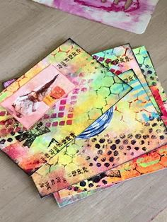 The Kathryn Wheel: Mini art journaling