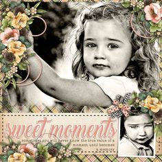 Sweet Moments Kit Seeds of Life by Jumpstart Designs. Template Double Fun #1 by Heartstrings Scrap Art. Photos per kind favour of Marta Everest Photography.