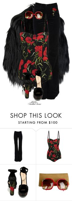 """""""Unbenannt #3216"""" by saskiasnow ❤ liked on Polyvore featuring Burberry, J Brand, Dolce&Gabbana, Chinese Laundry and Ted Lapidus"""