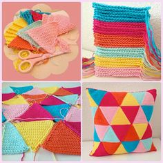 driehoekjes kussen tutorial - triangle cushion tutorial