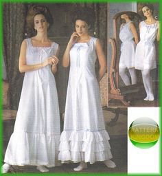 Simplicity 7157 Edwardian Camisole Bloomers & Slip Patterns