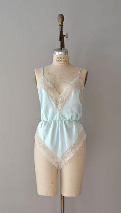vintage lingerie / lace romper / vintage teddy