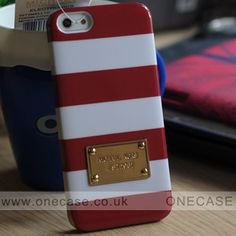 Get graphic with this protective case that dresses your iPhone 5 in colorful signature style. Bold stripes and golden logo plate give your gadget instant posh appeal. From MICHAEL Michael Kors.A shiny, embossed logo plate lends a signature touch to a boldly striped case designed to protect your iPhone..