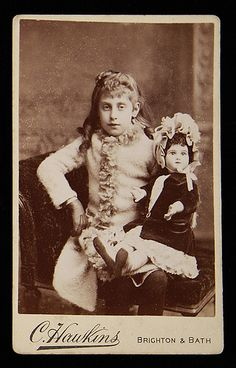 Girl with French doll