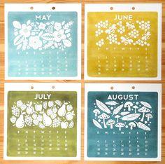 calendar 2013 - etsy.com/hillarybird