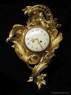 A Fine Louis XV Style Gilt-Bronze Rococo Cartel Clock by PAUL SORMANI - Adrian Alan