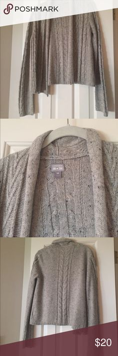 Gray cardigan Open gray speckled cardigan Converse Sweaters Cardigans