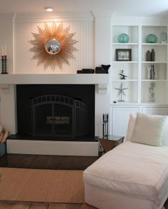Molly Frey Design: Before and After: Fireplace and Built-ins