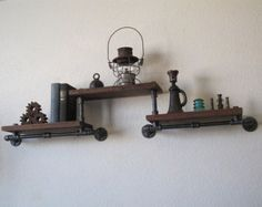 Single with Valve Pipe Shelf by vintagepipedreams on Etsy