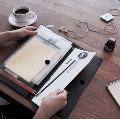 #vintagepouchA4#seeso#document#pouch#A4 #paper#storage#portfolio#filecase#stationery#black#case#design